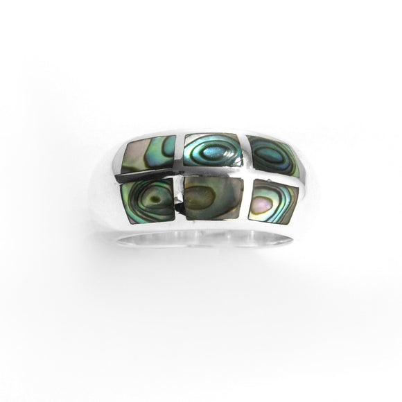 Abalone Shell & Sterling Silver Ring , STERLING SILVER JEWELRY - RINGS - ARTISANS ON MAIN STREET, {Artisan_Silver_Gifts} - 1