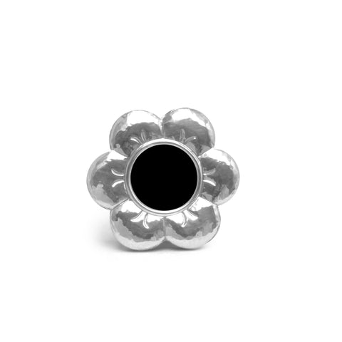 Gifts for Baby Girl - Sterling Silver Flower Frame , Classic frame - ARTISANS ON MAIN STREET, {Artisan_Silver_Gifts} - 1