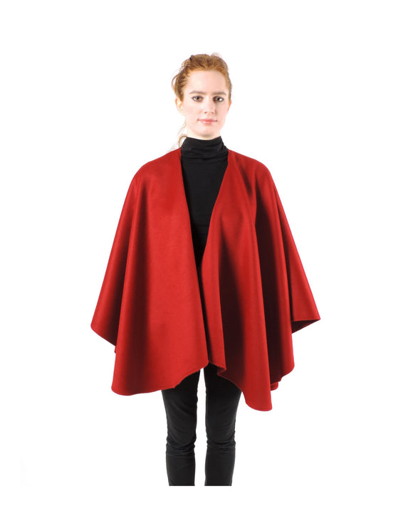 Classic Baby Alpaca Cape in Red , Baby Alpaca Poncho - ARTISANS ON MAIN STREET, {Artisan_Silver_Gifts} - 1