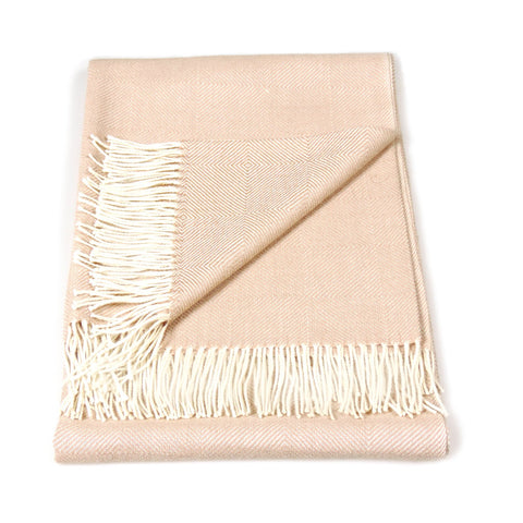 Baby Alpaca Geometric Throw Blanket in Beige & Cream , Baby Alpaca Throws - Artisan Silver & Gifts, {Artisan_Silver_Gifts} - 1