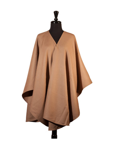 Baby Alpaca Ruana Cape in Solid Color - Camel , Baby Alpaca Poncho - ARTISANS ON MAIN STREET, {Artisan_Silver_Gifts} - 1
