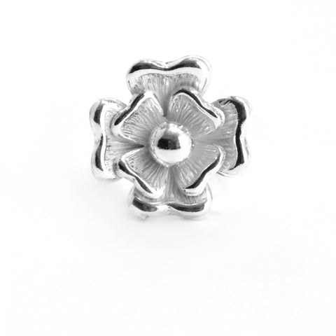 Big Flower Sterling Silver Ring , STERLING SILVER JEWELRY - RINGS - ARTISANS ON MAIN STREET, {Artisan_Silver_Gifts} - 1