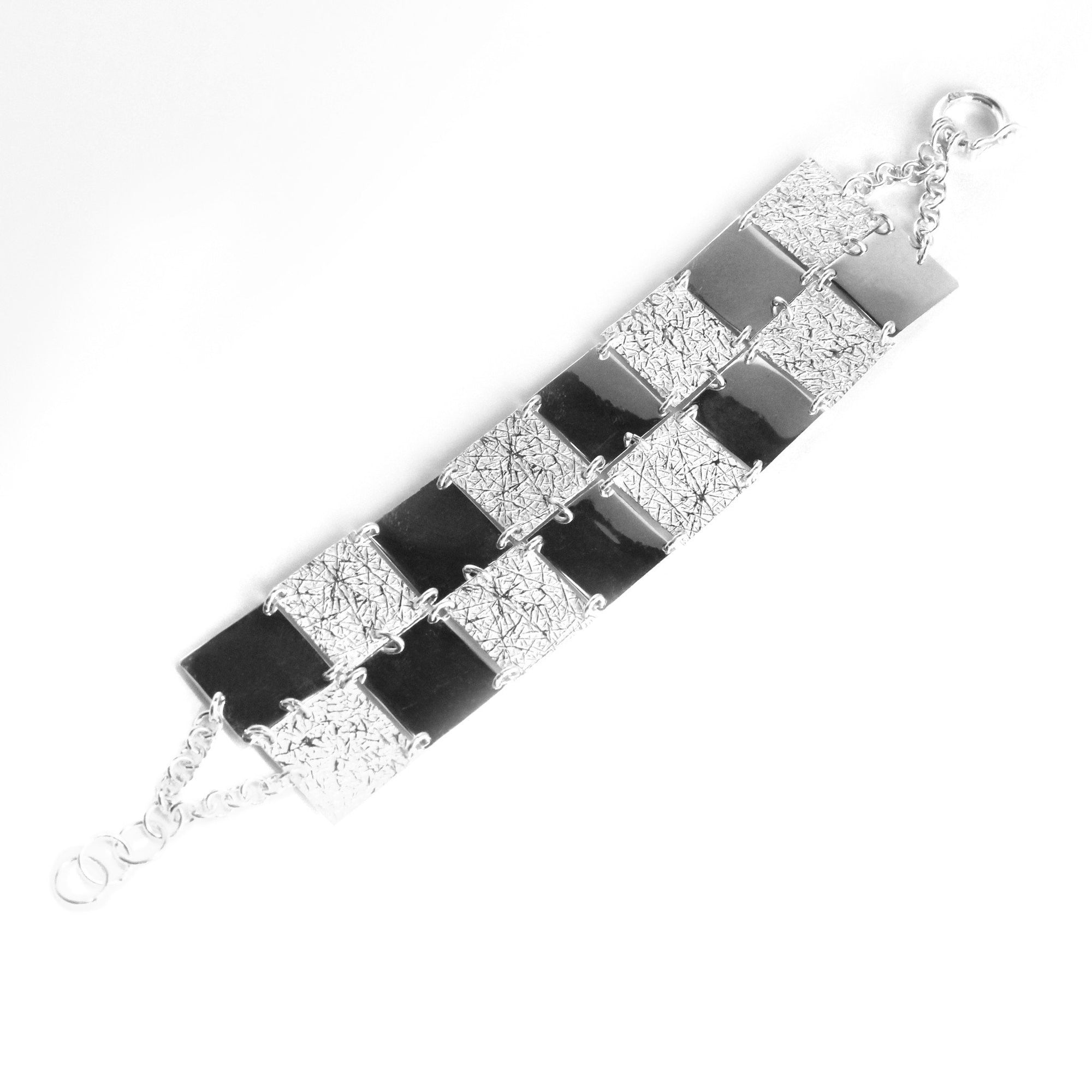 Chess Sterling Silver Bracelet - Qinti - The Peruvian Shop