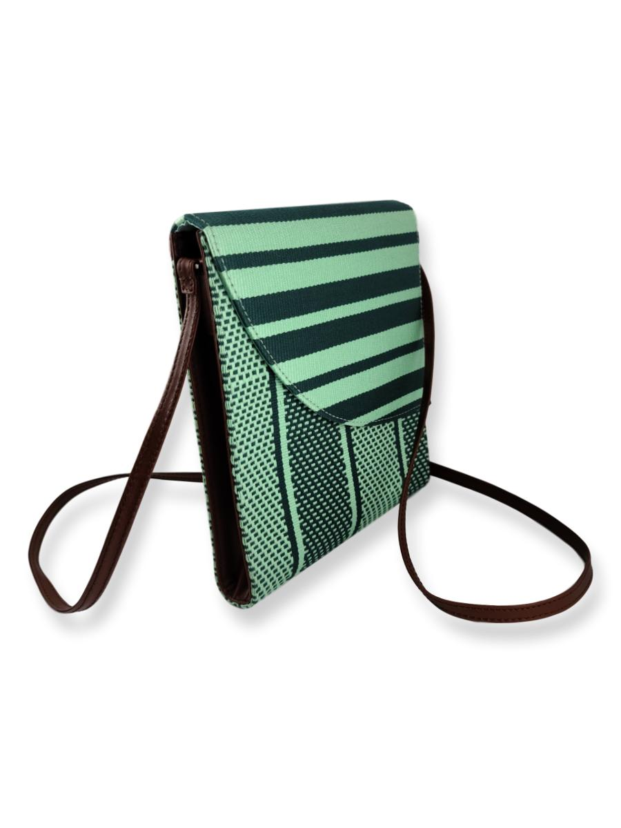 Curva Crossbody Handbag - Minty Greens