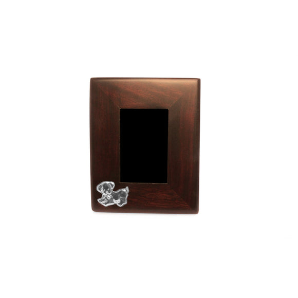 DOGGIE Mahogany Frame with Sterling Silver Accent - Qinti - The Peruvian Shop