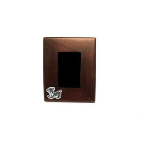 DOGGIE Mahogany Frame with Sterling Silver Accent , Classic frame - ARTISANS ON MAIN STREET, {Artisan_Silver_Gifts} - 1