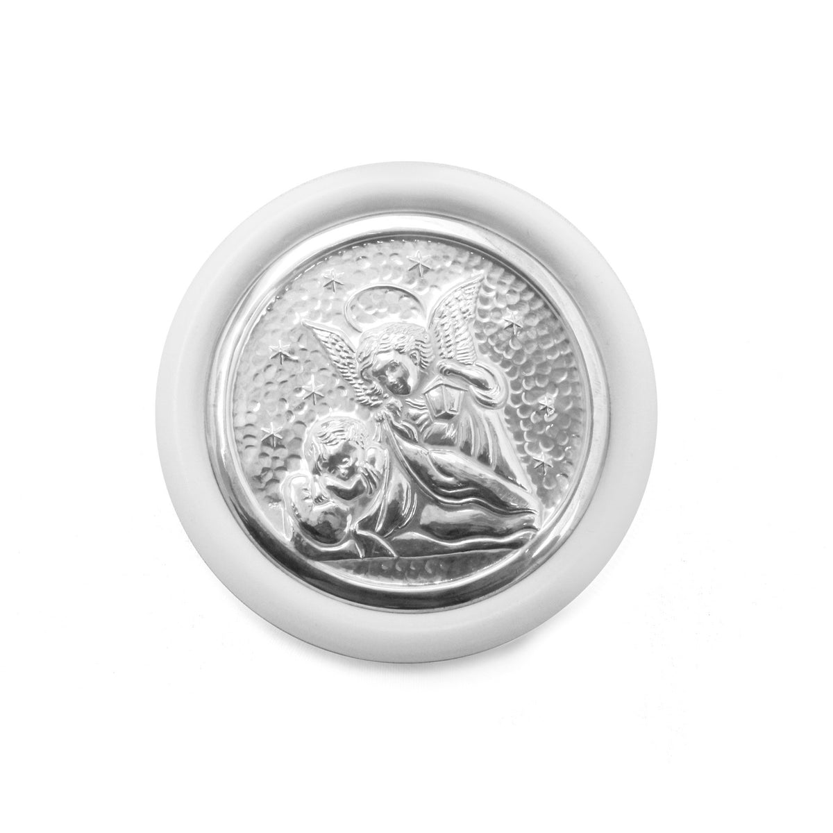 Sterling Silver Crib Medal – Guardian Angel - Qinti - The Peruvian Shop
