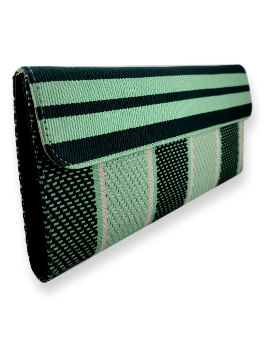 Large Classic Clutch Bag - Mint Greens