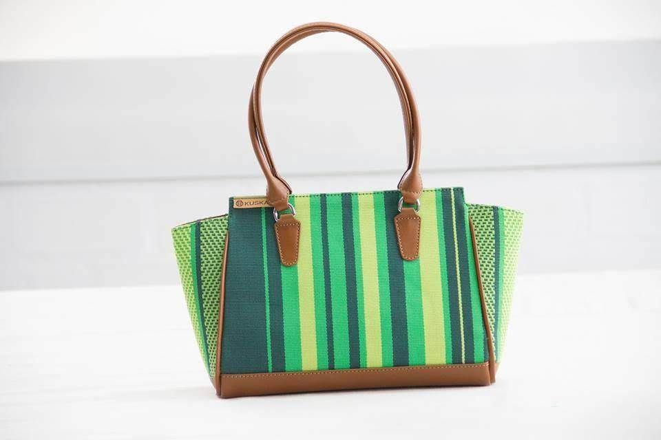 Handmade Striped Woven Cotton Shoulder Bag - Qinti - The Peruvian Shop