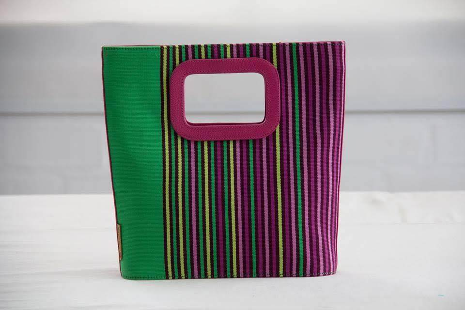 Multicolored Striped Handwoven Cotton Top Handle Bags - Qinti - The Peruvian Shop