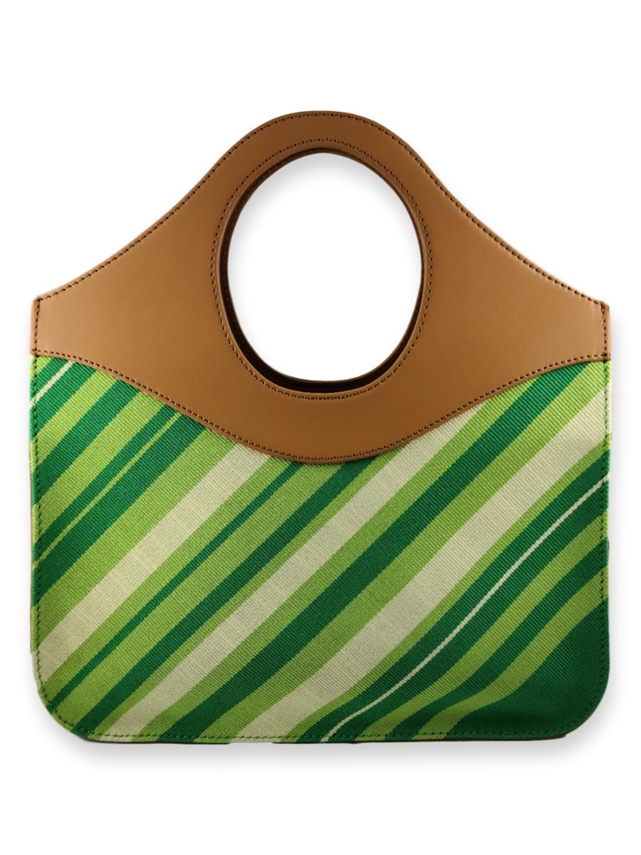 O-Handle Handbag - Leafy Greens
