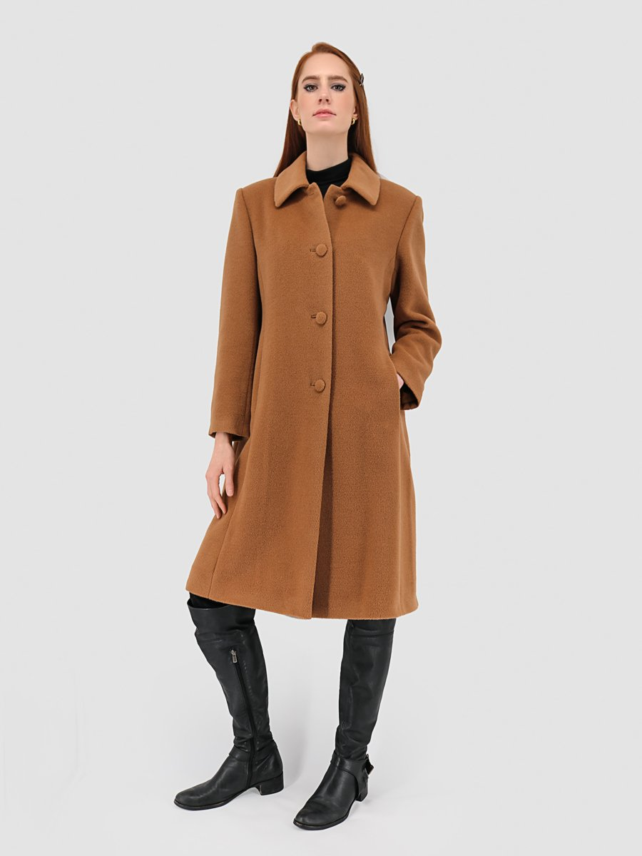 Women's Baby Alpaca Princesa Coat - Camel - Qinti - The Peruvian Shop
