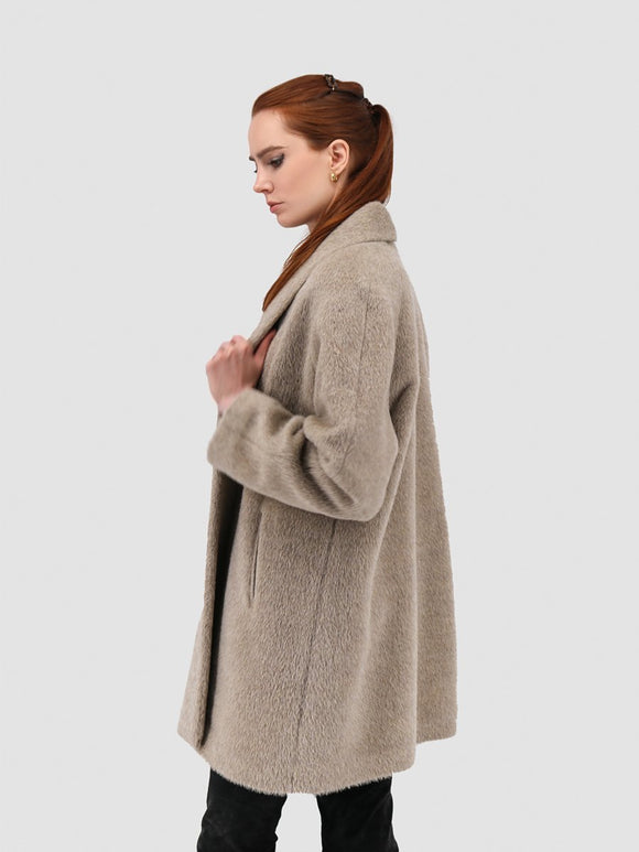 Suri Alpaca Swing Coat