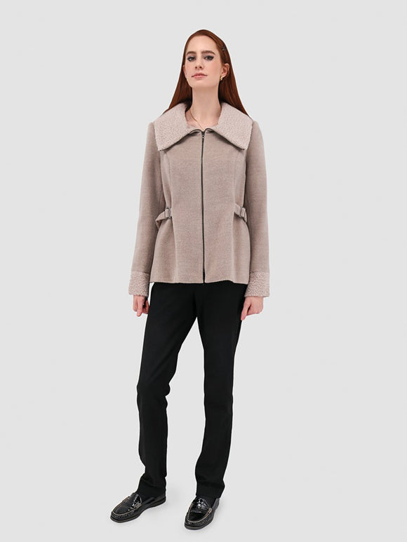 Shearling Jacket - Women's Winter Jacket