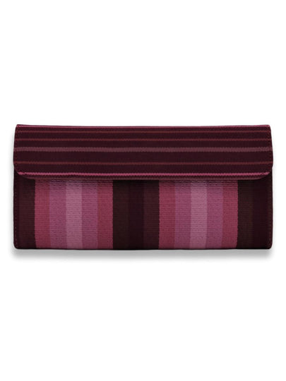 Large Clutch Bag - Purple stripes - Qinti - The Peruvian Shop