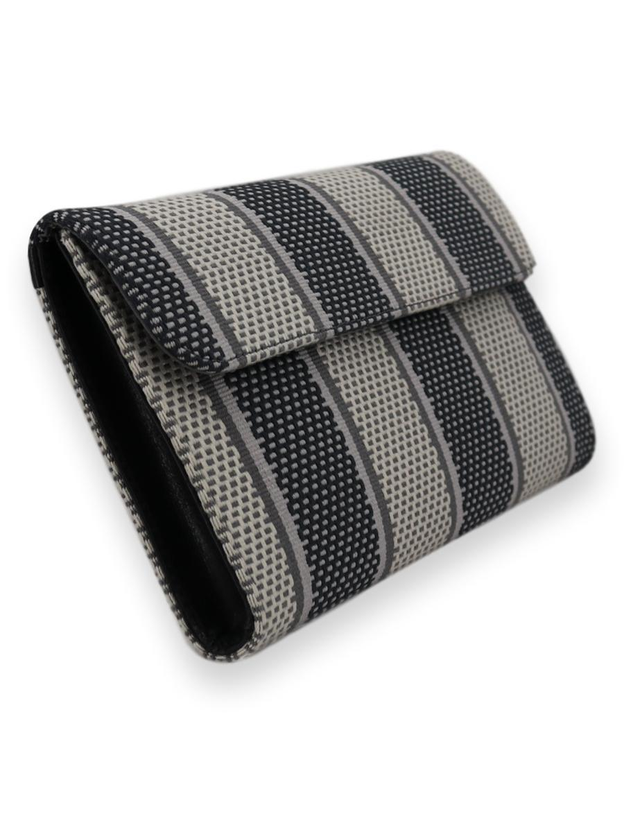 Large Classic Clutch Bag - black/greys/white - Qinti - The Peruvian Shop