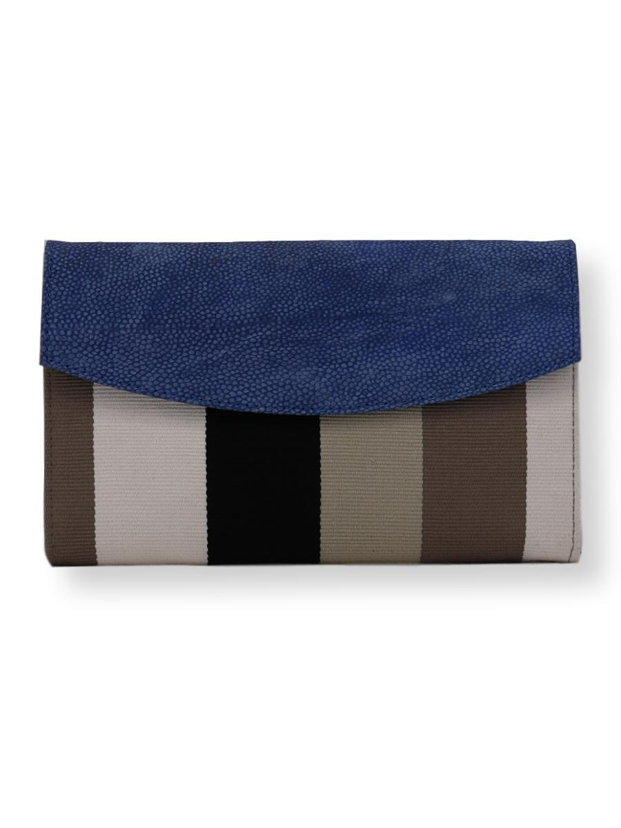 Small Classic Clutch Bag in Ocean Hues - Qinti - The Peruvian Shop