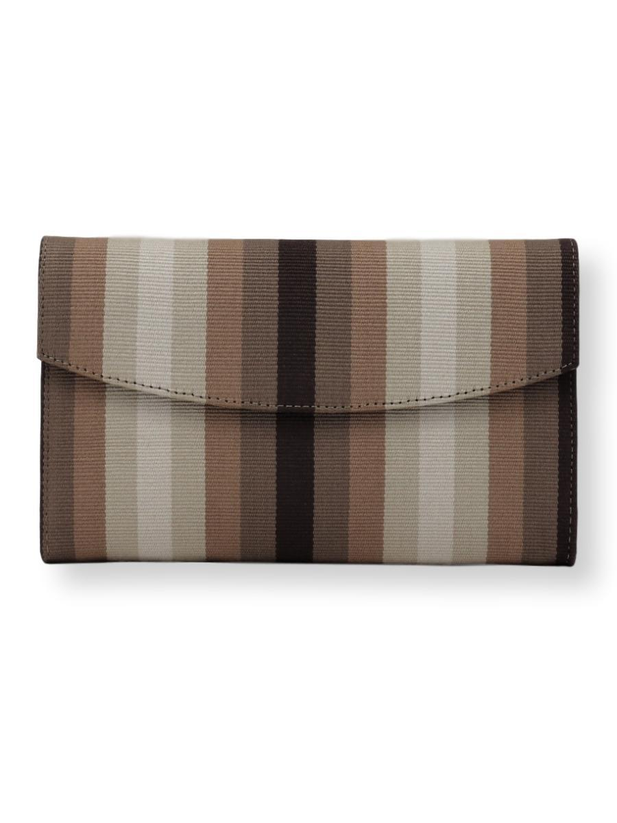 Small Clutch Bag -  brown/taupe/beige cream - Qinti - The Peruvian Shop