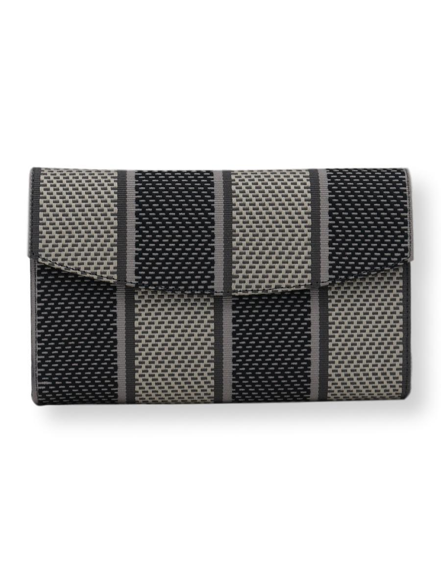 small Clutch Bag - Checkered Charcoal Greys - Qinti - The Peruvian Shop