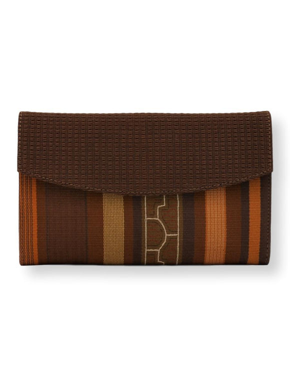 5347 small classic clutch SHIPIBO brown cover, earthy/spices tones