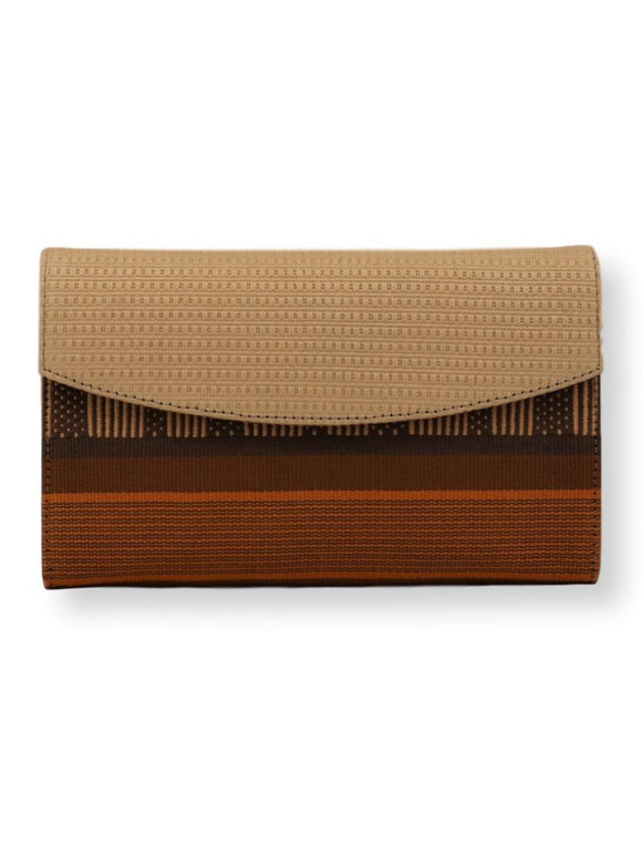 5352 small classic clutch SHIPIBO cream cover, saffron