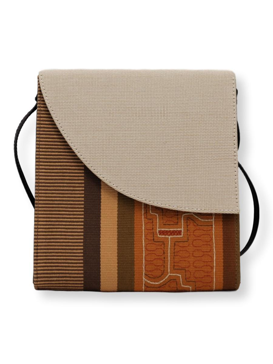 Curva Crossbody Handbag - Shipibo Textile Collection - Qinti - The Peruvian Shop