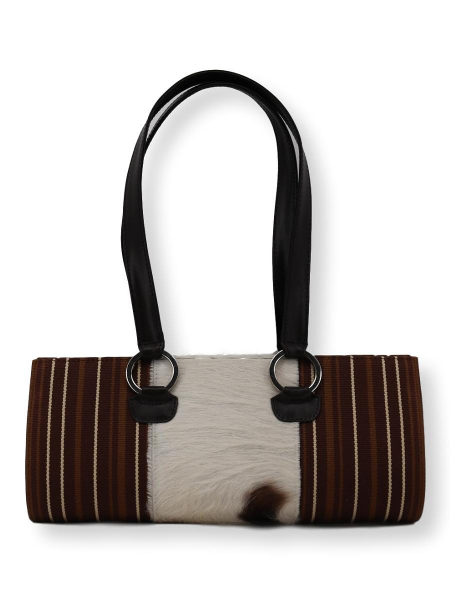 Tubo Handbag with Cowhide - Qinti - The Peruvian Shop