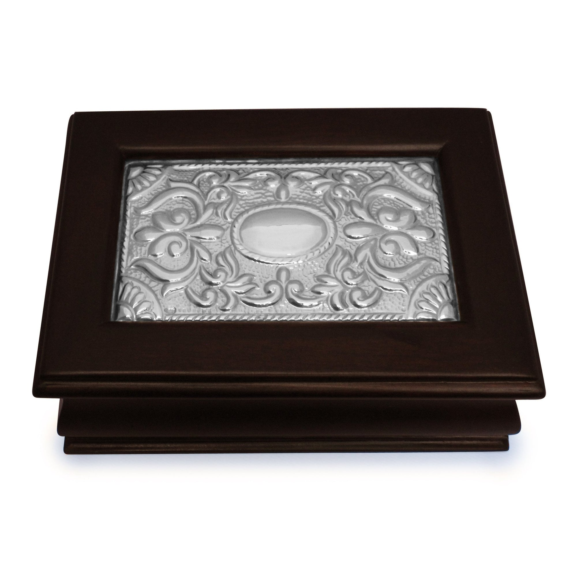 Keepsake Box – Sterling Silver Décor - Medium - Qinti - The Peruvian Shop