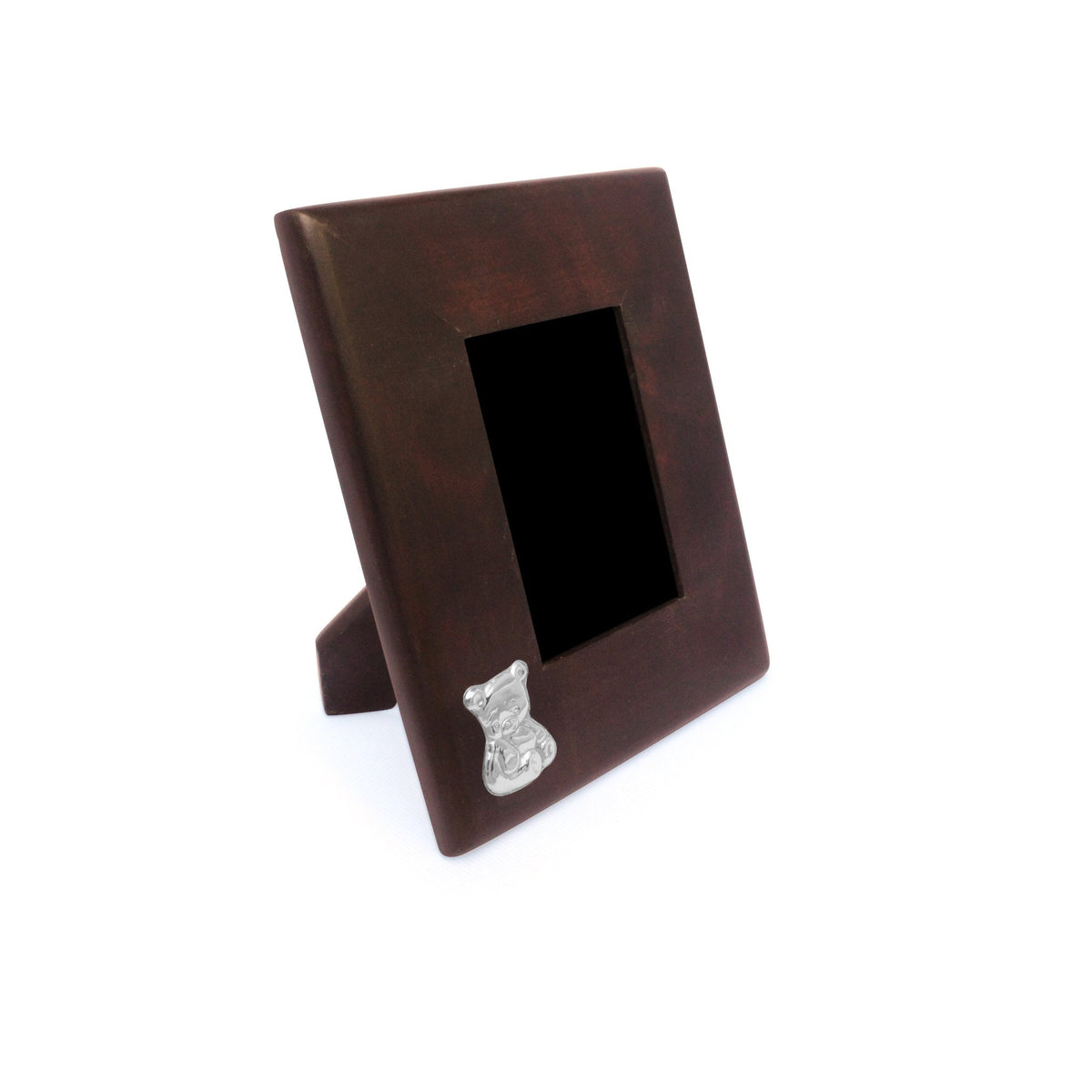 LITTLE BEAR Mahogany Frame with Sterling Silver Accent - Qinti - The Peruvian Shop