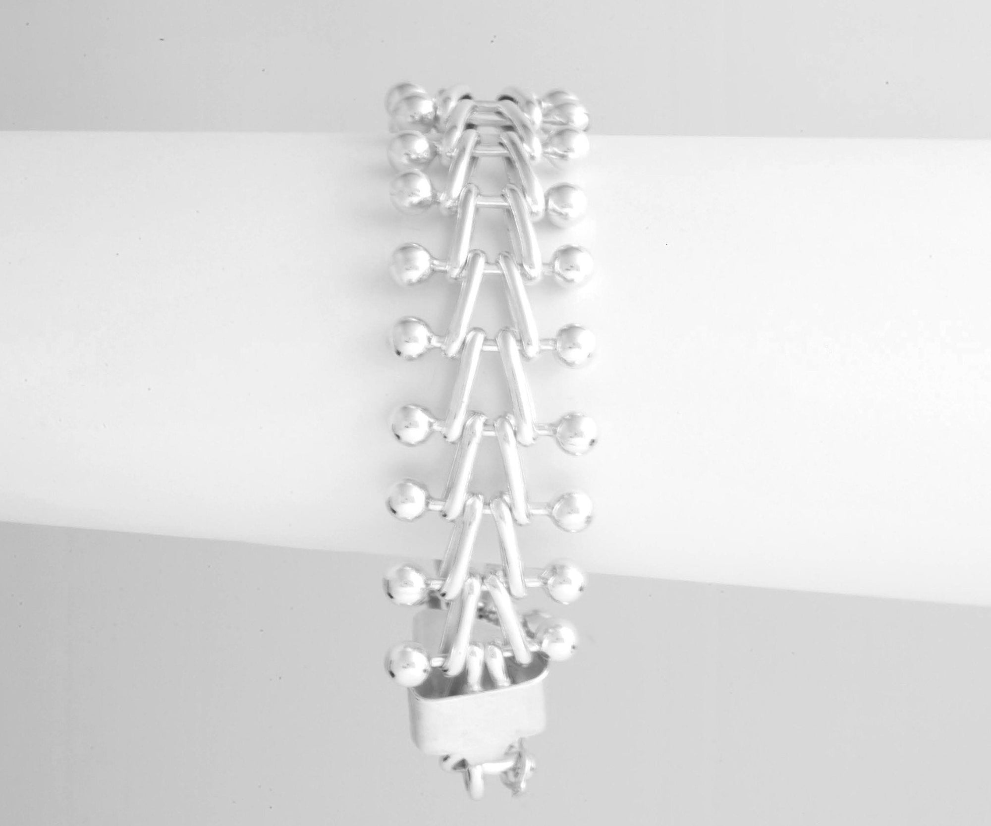 Centipede High Polish Sterling Silver Bracelet - Qinti - The Peruvian Shop