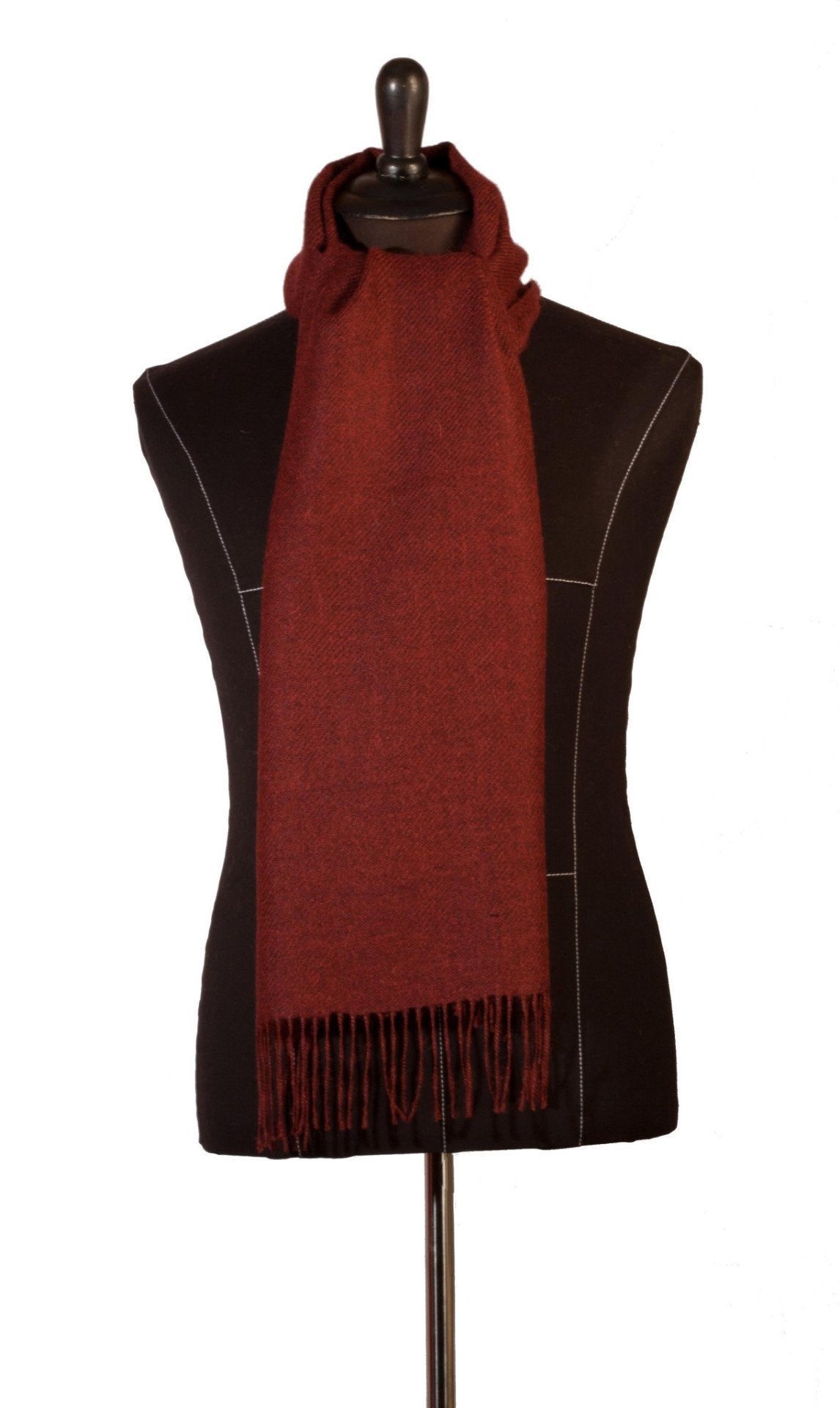 100% Baby Alpaca Woven Scarf - Melange Crimson Red - Qinti - The Peruvian Shop