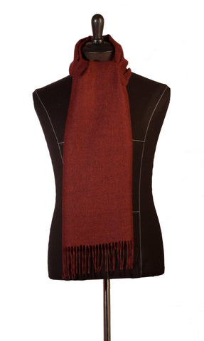 100% Baby Alpaca Woven Scarf - Melange Crimson Red , Baby Alpaca Scarves - ARTISANS ON MAIN STREET, {Artisan_Silver_Gifts}