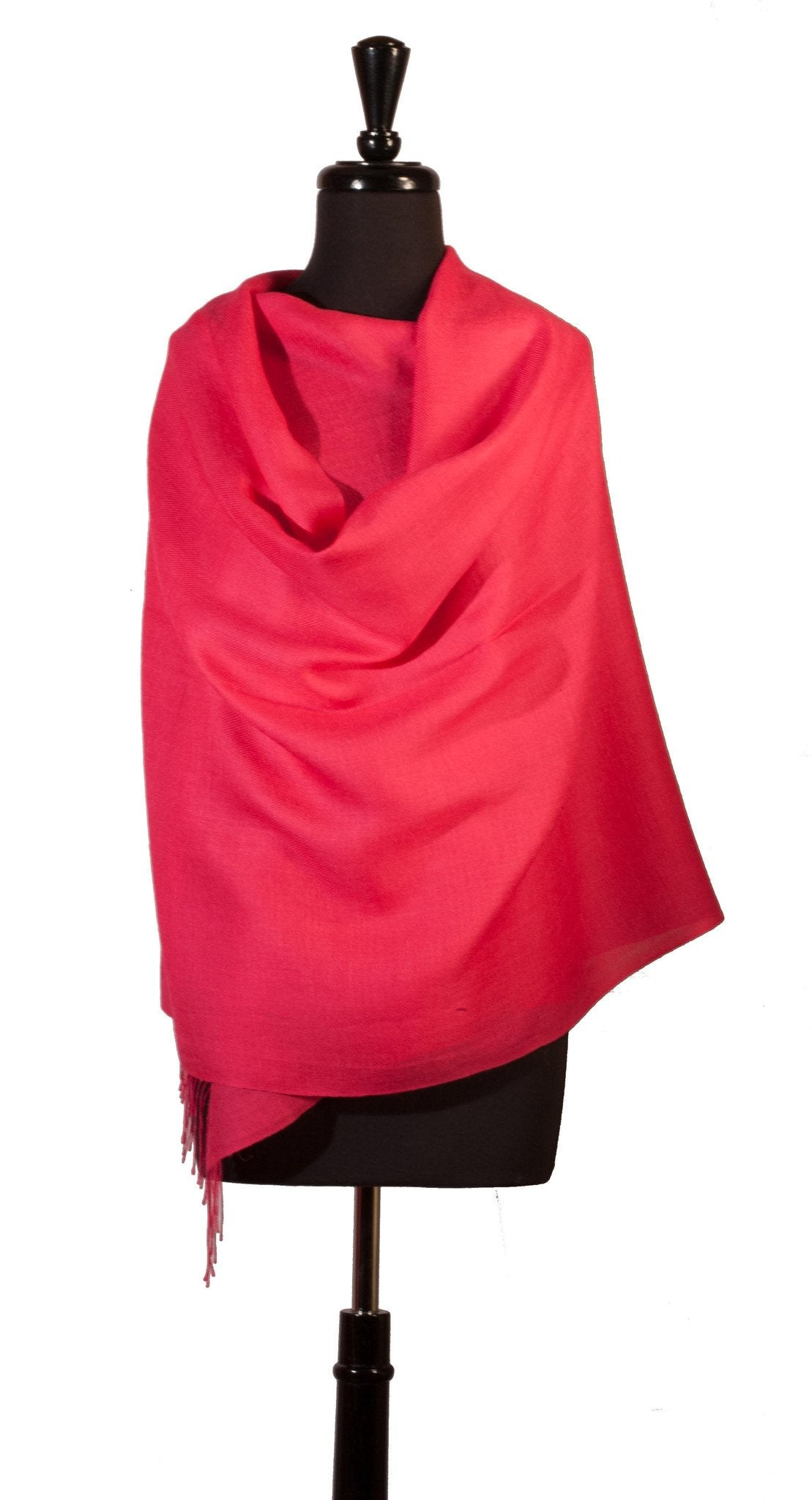 Baby Alpaca & Silk Shawl in Solid Color - Pink - Qinti - The Peruvian Shop