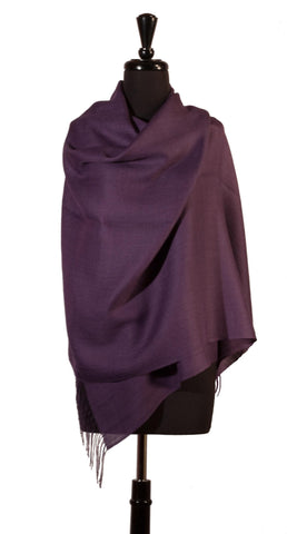 Baby Alpaca & Silk Shawl in Solid Color - Dark Purple , Baby Alpaca Shawls - ARTISANS ON MAIN STREET, {Artisan_Silver_Gifts}