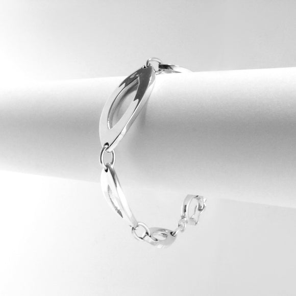 Marquise Links Sterling Silver Bracelet - Qinti - The Peruvian Shop