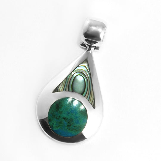 Peacock Pendant Sterling Silver - Qinti - The Peruvian Shop
