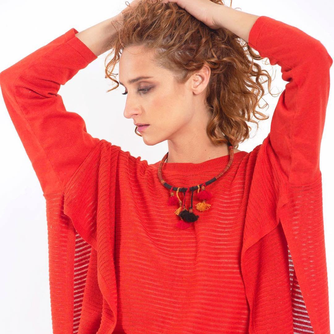 Pima Cotton Tunic Top Red