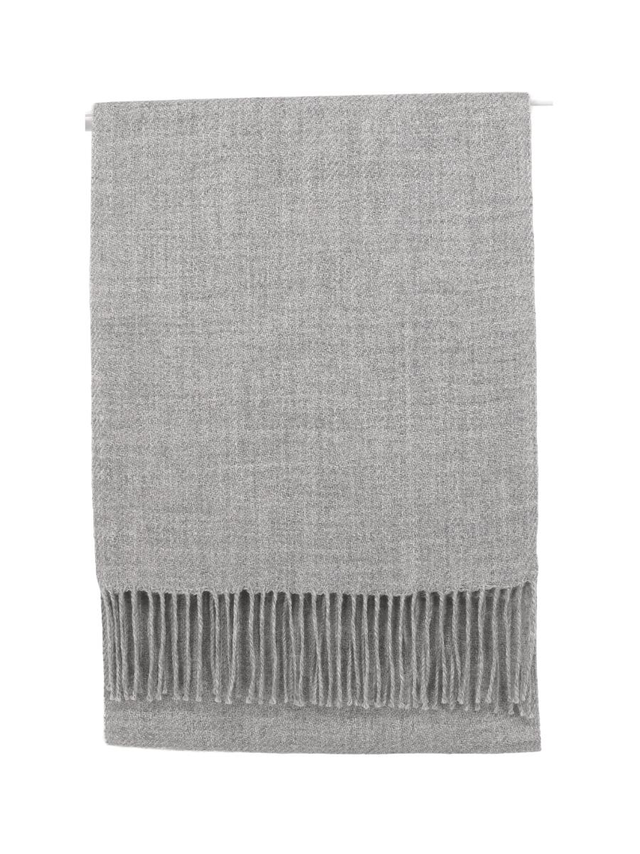 100% Baby Alpaca Woven Scarf - Natural Silver Grey - Qinti - The Peruvian Shop