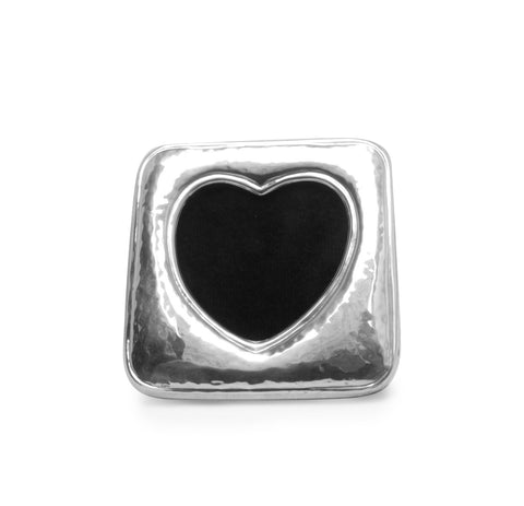 Heart Frame in Sterling Silver , Classic frame - ARTISANS ON MAIN STREET, {Artisan_Silver_Gifts} - 1