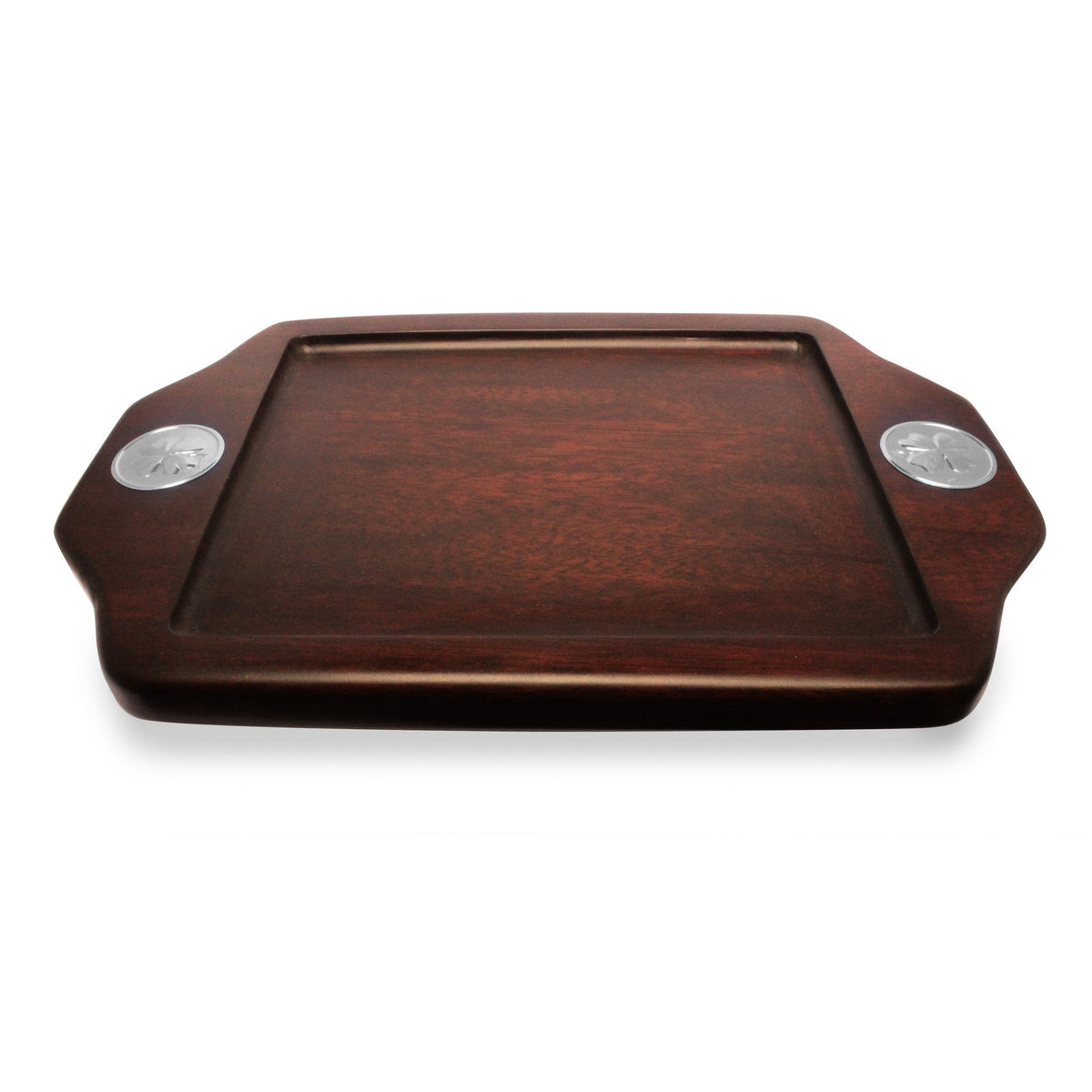 Serving Tray  with Sterling Silver Clover Accent - Qinti - The Peruvian Shop