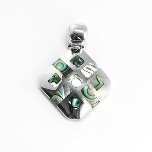 Sterling Silver & Abalone Shell Pendant - Qinti - The Peruvian Shop
