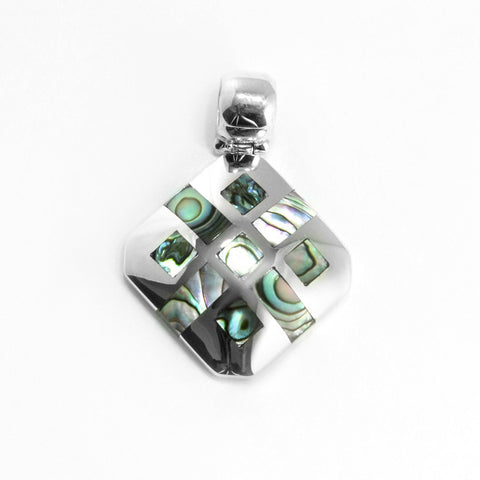 Sterling Silver & Abalone Shell Pendant , Jewelry Pendants  - ARTISANS ON MAIN STREET, {Artisan_Silver_Gifts} - 1