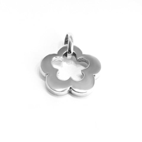 Sterling Silver Flower Pendant , Jewelry Pendants  - ARTISANS ON MAIN STREET, {Artisan_Silver_Gifts}