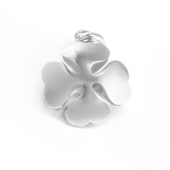 Sterling Silver Four-Leaf Clover Pendant , Jewelry Pendants  - ARTISANS ON MAIN STREET, {Artisan_Silver_Gifts} - 1