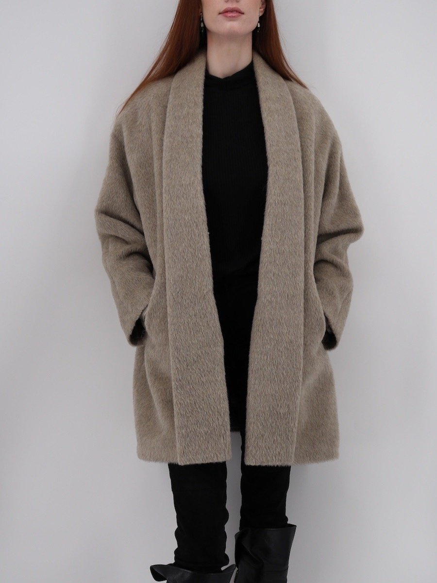 Suri Alpaca Swing Coat - Qinti - The Peruvian Shop