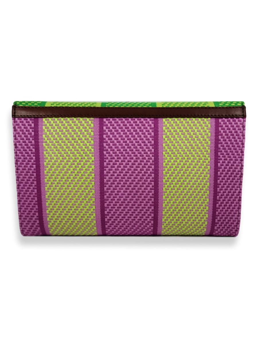 Small Classic Clutch - Orchid Stripes 4
