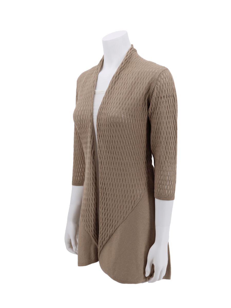 Organic Cotton WAVES Open Cardigan - Qinti - The Peruvian Shop