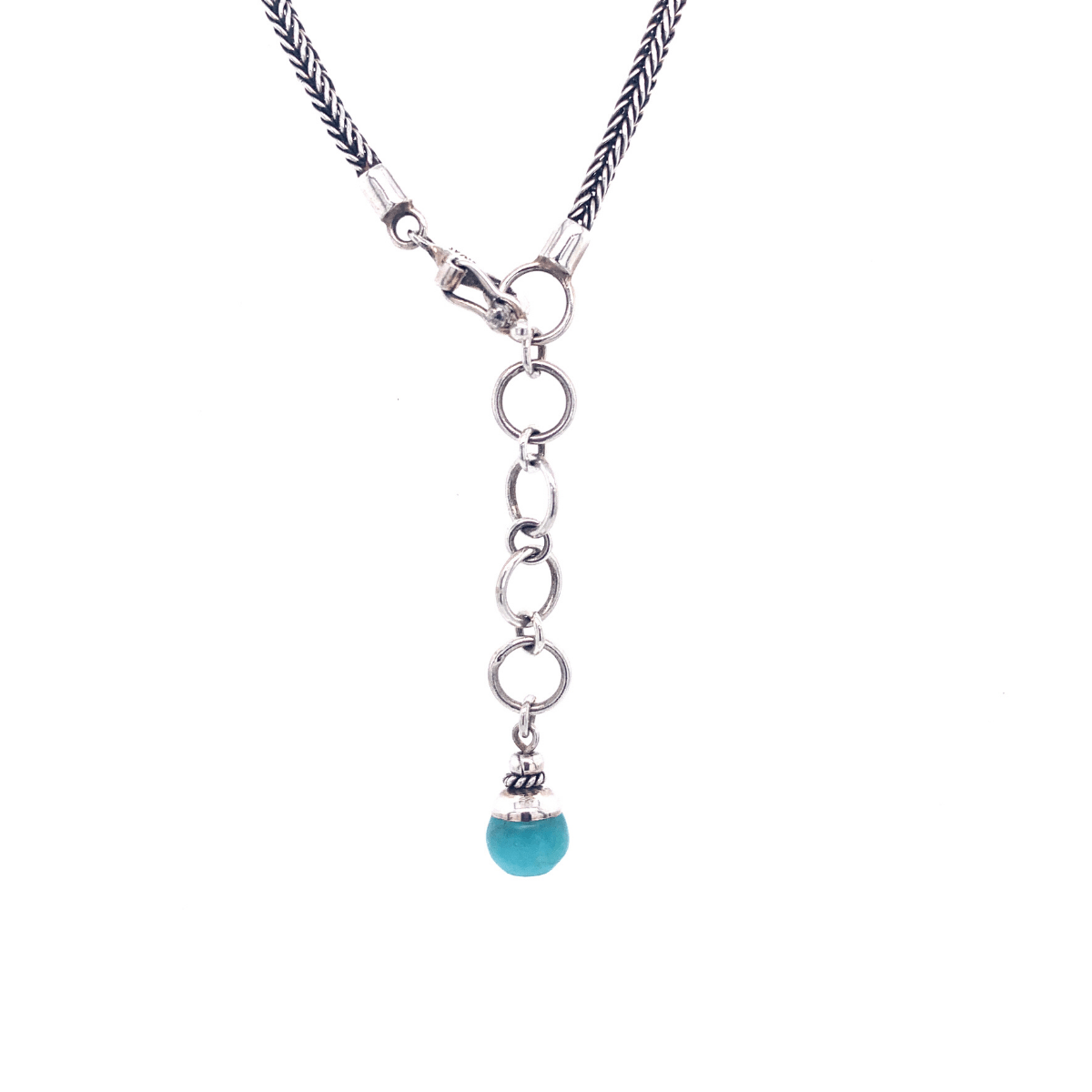 Amazonite Balls & Sterling Silver Necklace - Qinti - The Peruvian Shop