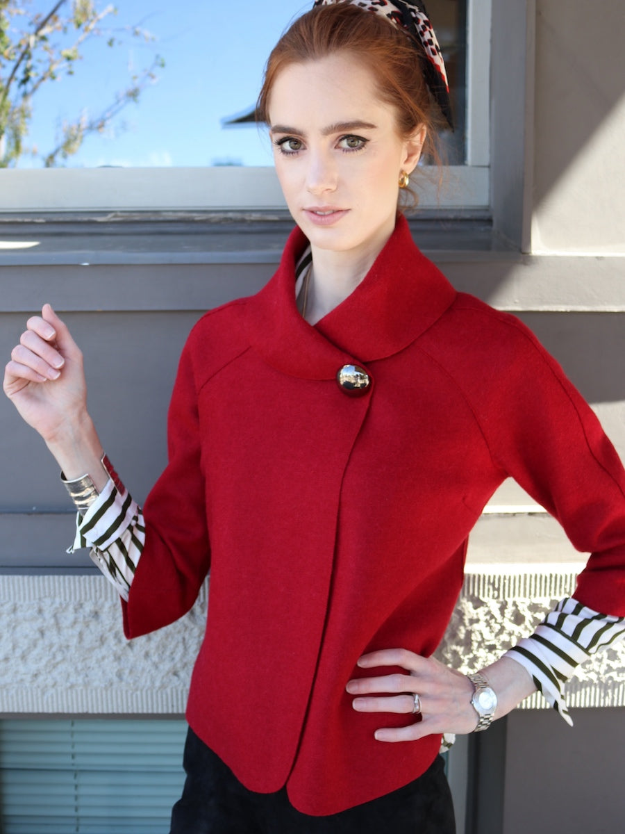 Audrey Jacket in Red