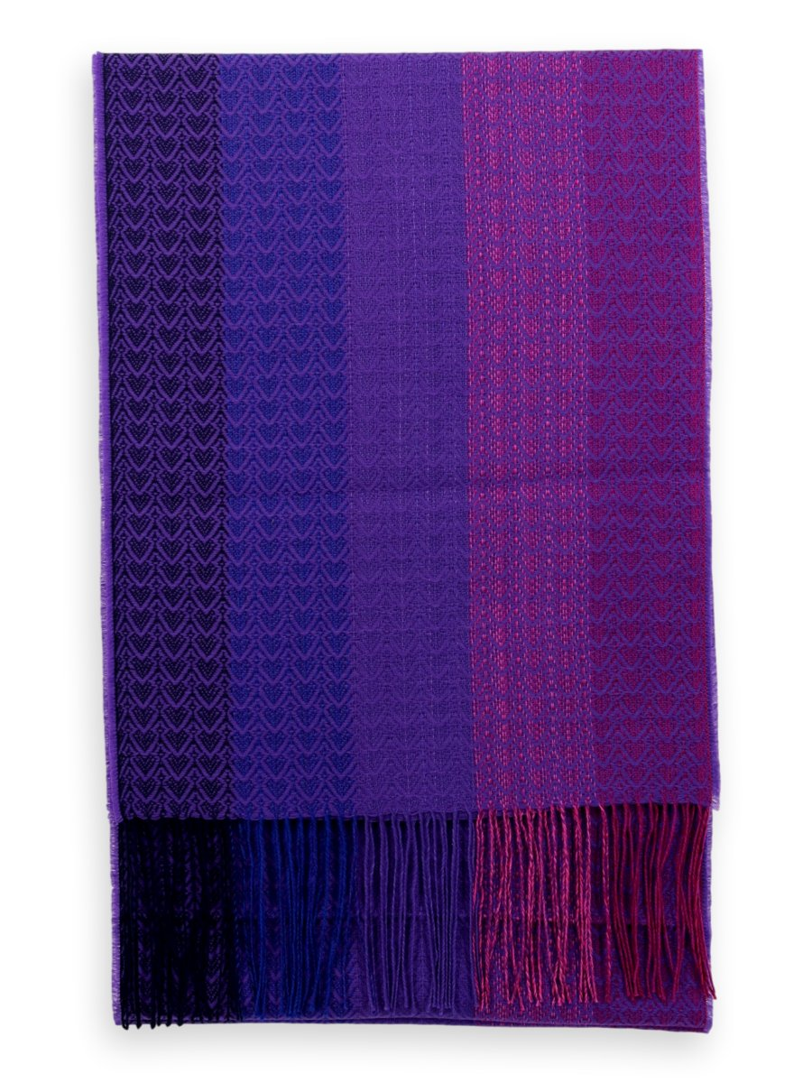 Baby Alpaca Silk Scarf - Purple/ Blue/ Pink